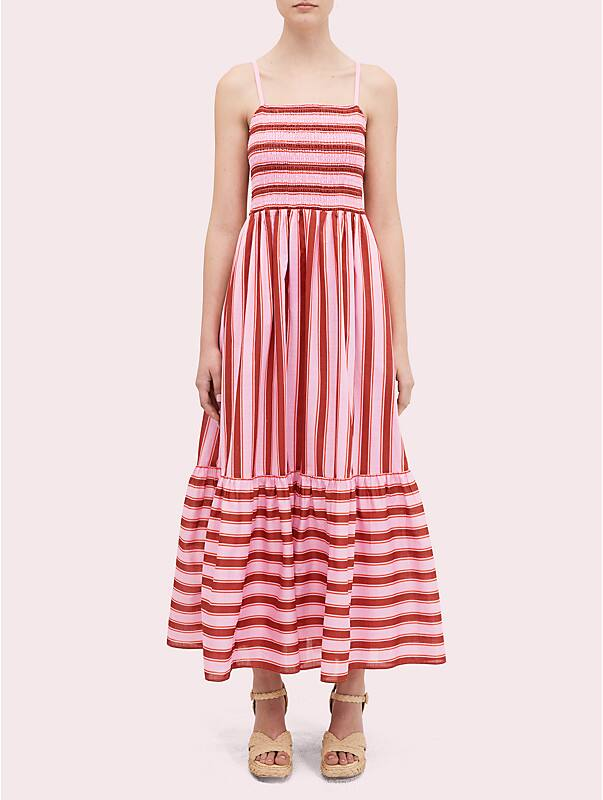 calais stripe smocked dress, , rr_large