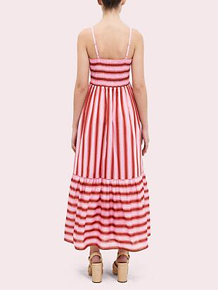 calais stripe smocked dress by kate spade new york hover view