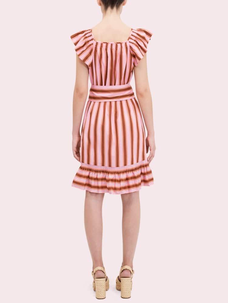Calais stripe flutter dress | Kate Spade New York
