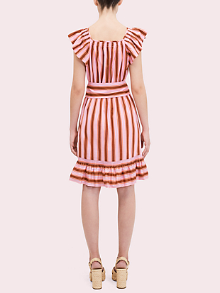 calais stripe flutter dress by kate spade new york hover view