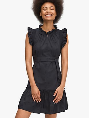 embroidered poplin mini dress by kate spade new york non-hover view