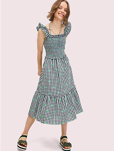 gingham voile smocked dress, , rr_productgrid