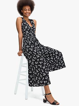 dandelion floral jumpsuit by kate spade new york hover view