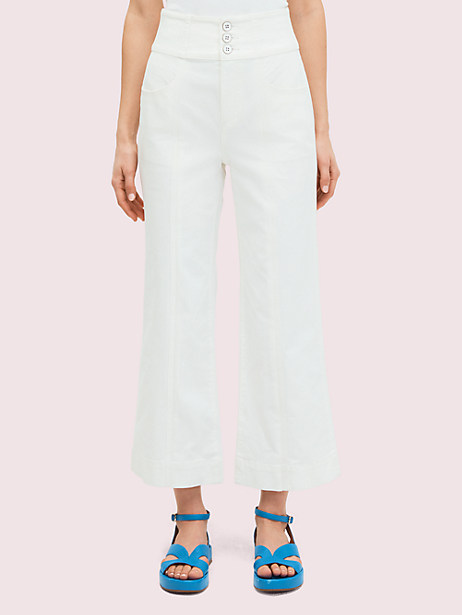 denim cropped flare pant by kate spade new york