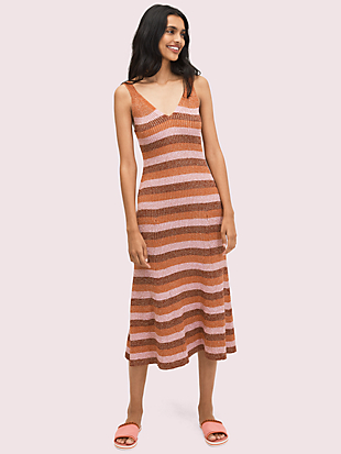 sparkle stripe sweater dress by kate spade new york non-hover view