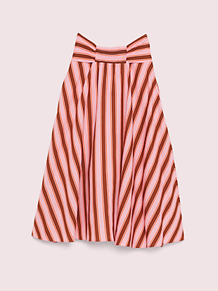 calais stripe skirt by kate spade new york hover view
