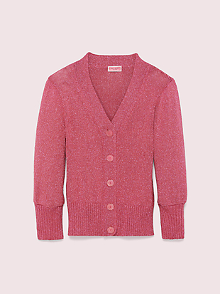 metallic cardigan by kate spade new york non-hover view
