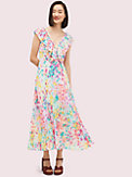 painted petals pleated dress, , s7productThumbnail