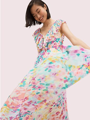 painted petals pleated dress, , rr_productgrid