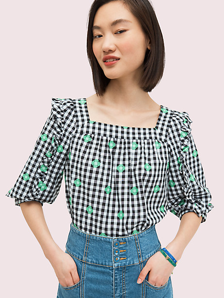 gingham voile top by kate spade new york