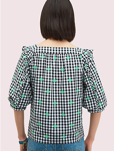 gingham voile top, , rr_productgrid