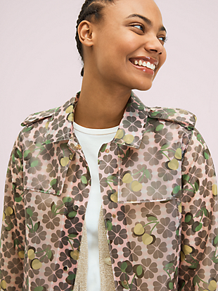 spade cherry translucent coat by kate spade new york hover view