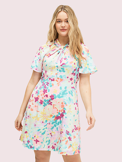 painted petals twist neck dress by kate spade new york