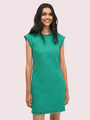 sequin tweed shift dress by kate spade new york non-hover view