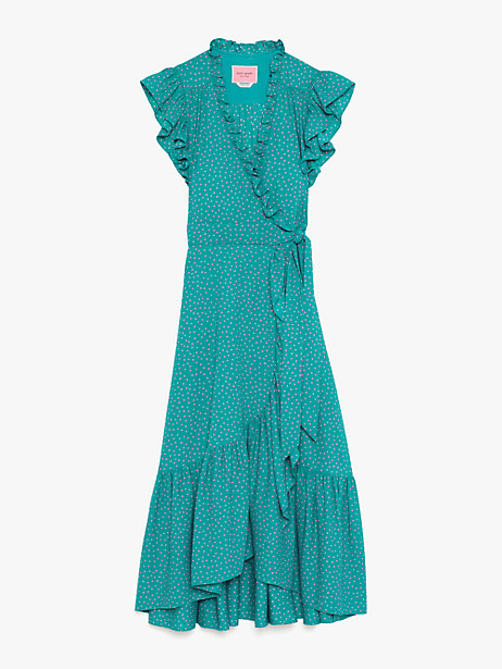 Poolside dot wrap dress | Kate Spade New York