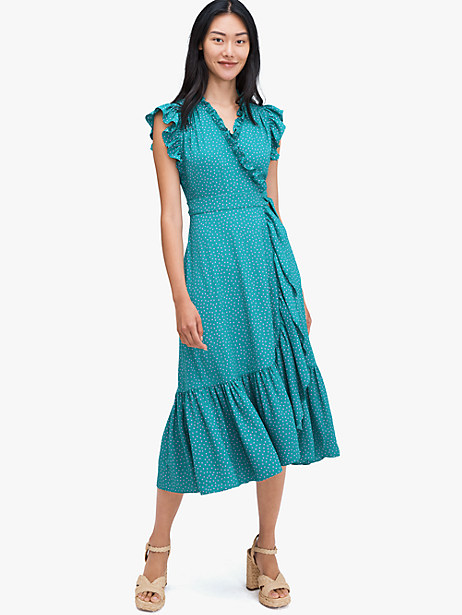 poolside dot wrap dress by kate spade new york