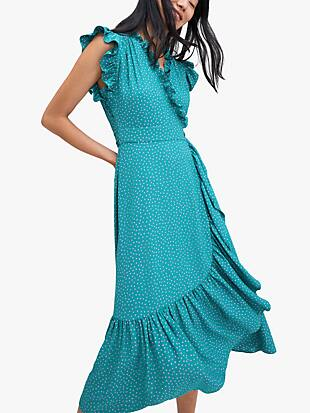 poolside dot wrap dress by kate spade new york hover view
