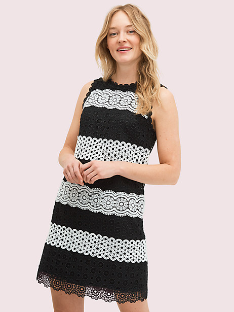 floral dot lace shift dress by kate spade new york