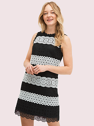 floral dot lace shift dress by kate spade new york non-hover view