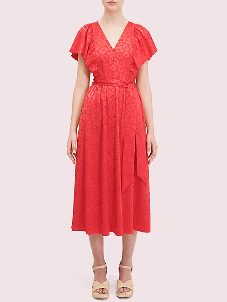 poppy field jacquard dress by kate spade new york