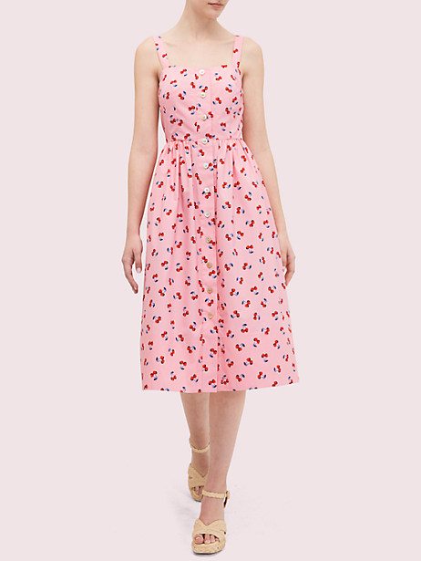 cherry toss poplin dress by kate spade new york