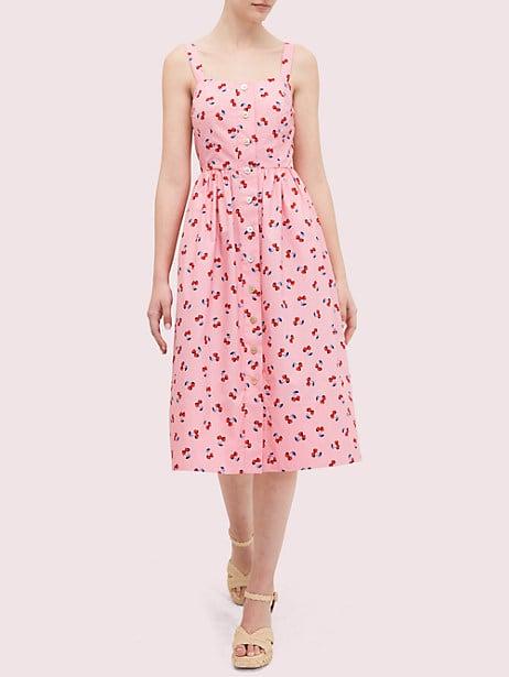 Cherry toss poplin dress | Kate Spade New York