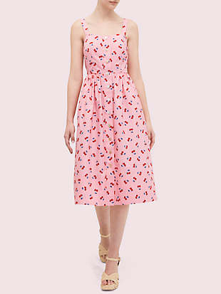 cherry toss poplin dress by kate spade new york non-hover view