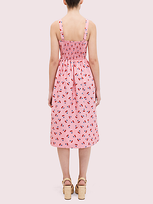 cherry toss poplin dress by kate spade new york hover view