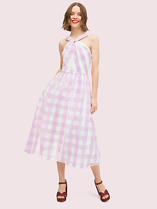 gingham organza dress by kate spade new york non-hover view