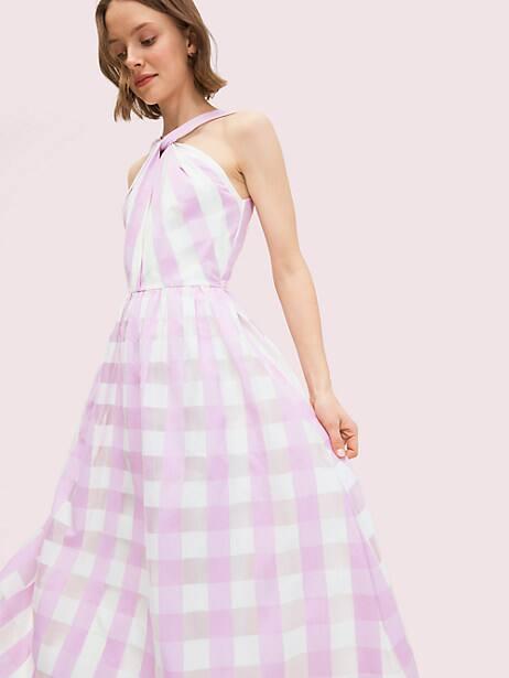 Gingham organza dress   Kate Spade New York