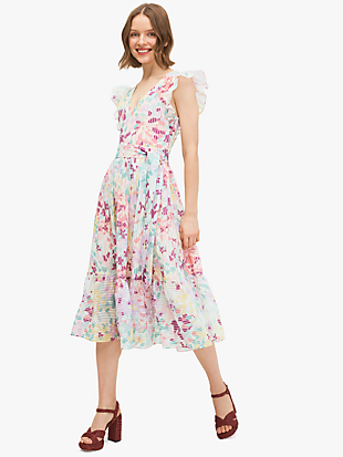 painted petals burnout dress by kate spade new york non-hover view