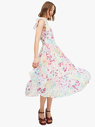painted petals burnout dress by kate spade new york hover view