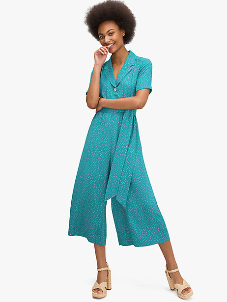 poolside dot jumpsuit by kate spade new york