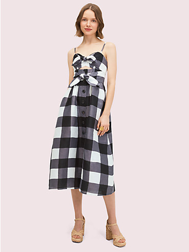 gingham tie front dress, , rr_productgrid
