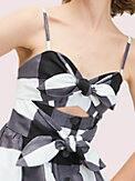 gingham tie front dress, , s7productThumbnail