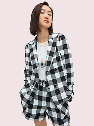gingham blazer by kate spade new york non-hover view