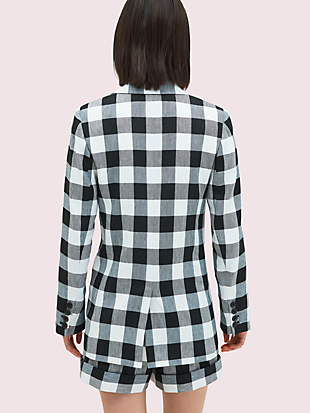 gingham blazer by kate spade new york hover view