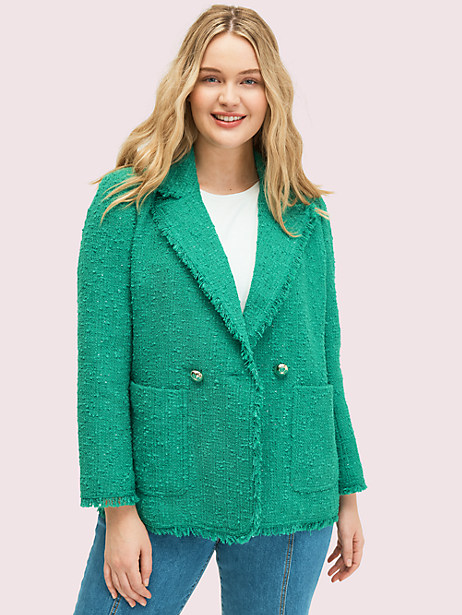 sequin tweed blazer by kate spade new york