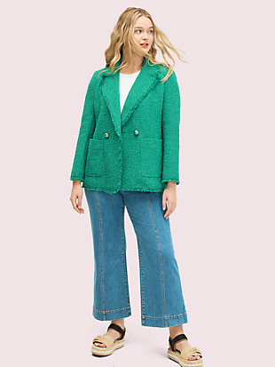 sequin tweed blazer by kate spade new york hover view