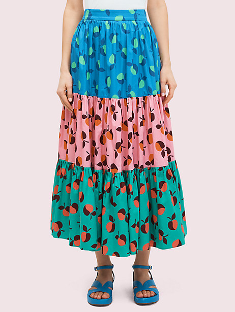 colorblock apple skirt by kate spade new york