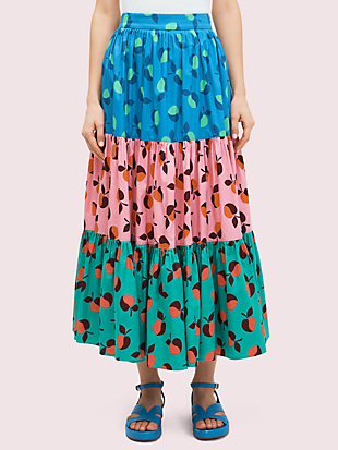 colorblock apple skirt by kate spade new york non-hover view