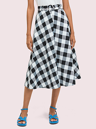 gingham skirt by kate spade new york non-hover view