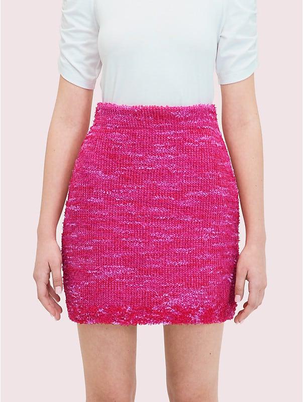 Kate Spade Women's Knit Tweed Skirt In True Pink