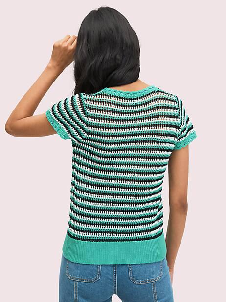 Crochet shortsleeve sweater | Kate Spade New York