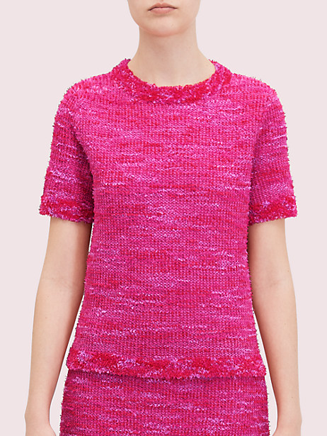 knit tweed tee by kate spade new york