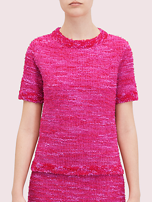 knit tweed tee by kate spade new york non-hover view