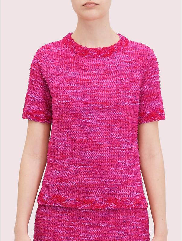 T-Shirt aus Strick-Tweed, , rr_large