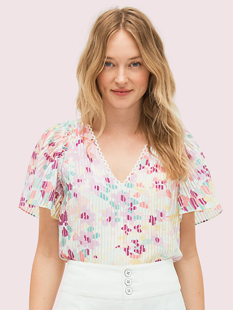 painted petals burnout top by kate spade new york