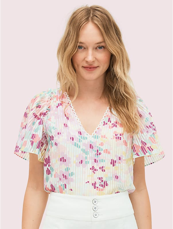 "Burnout-Top mit ""Painted Petals""-Muster, , rr_large"