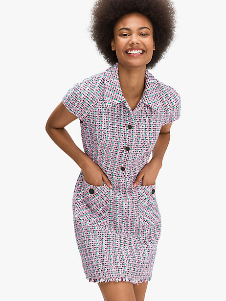 enchanted tweed shirtdress by kate spade new york